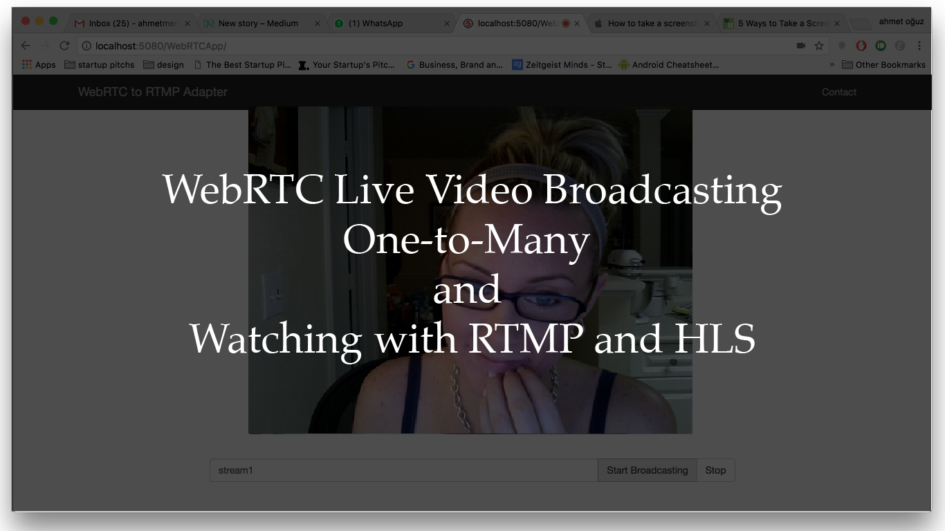 WebRTC Live Video Stream Broadcasting One-To-Many and Watching with