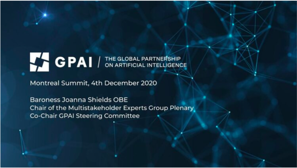 Global Partnership on Artificial Intelligence, Montreal Summit 4th December 2020—'Why This Matters'