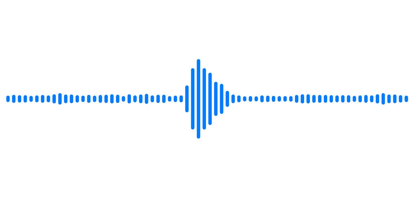 Image of a sound wave with bars.