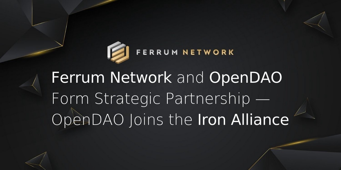 Ferrum Network and OpenDAO Form Strategic Partnership—OpenDAO Joins the Iron Alliance