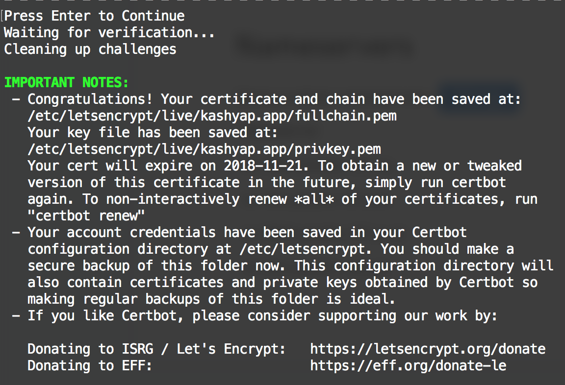 Deploying SSL enabled applications to AWS using Lets Encrypt