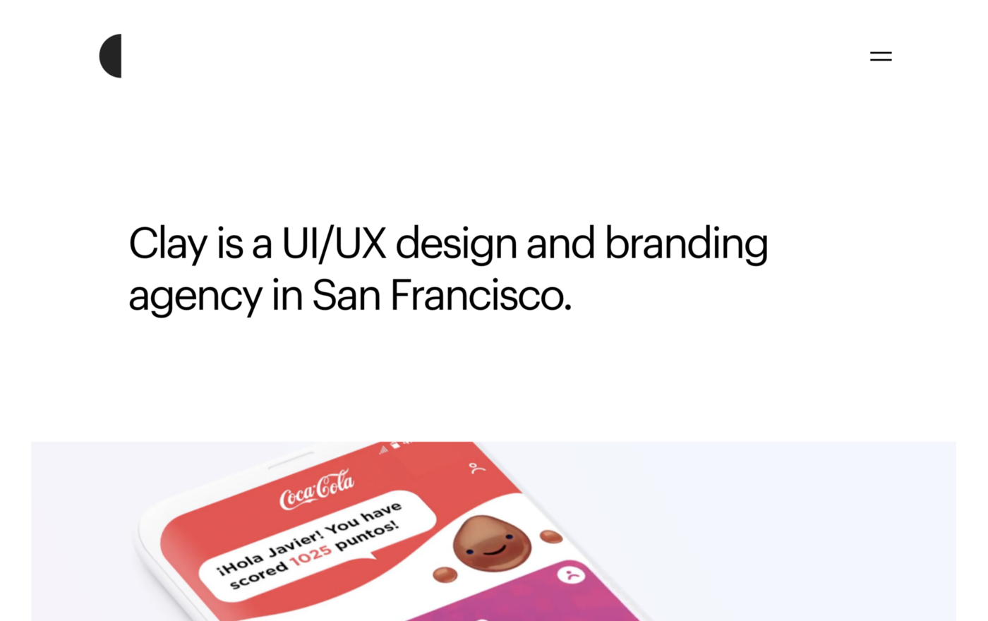 Clay: UX design agency, web design, and branding firm