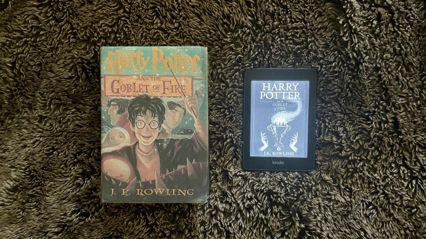 Harry Potter Hardcover versus Kindle Paperwhite