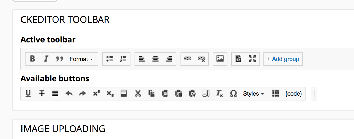 Ckeditor 5 Toolbar Options