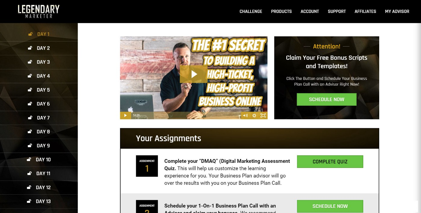 Legendary Marketer's 15-Day Business Builder Challenge Review Print-screen