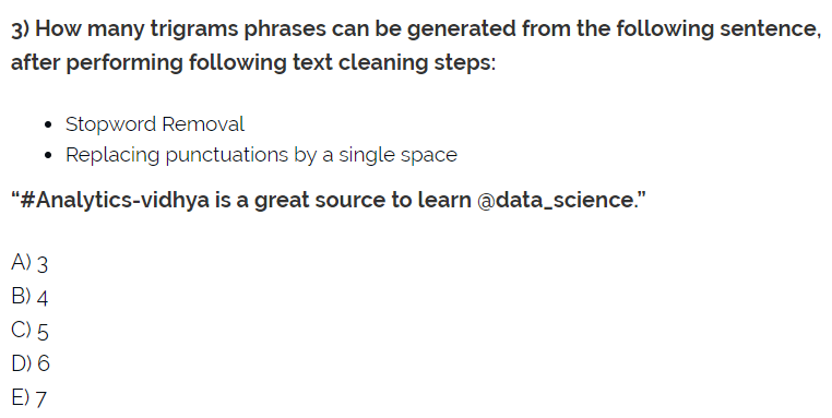 My Take on 30 Questions to test a data scientist on Natural Language
