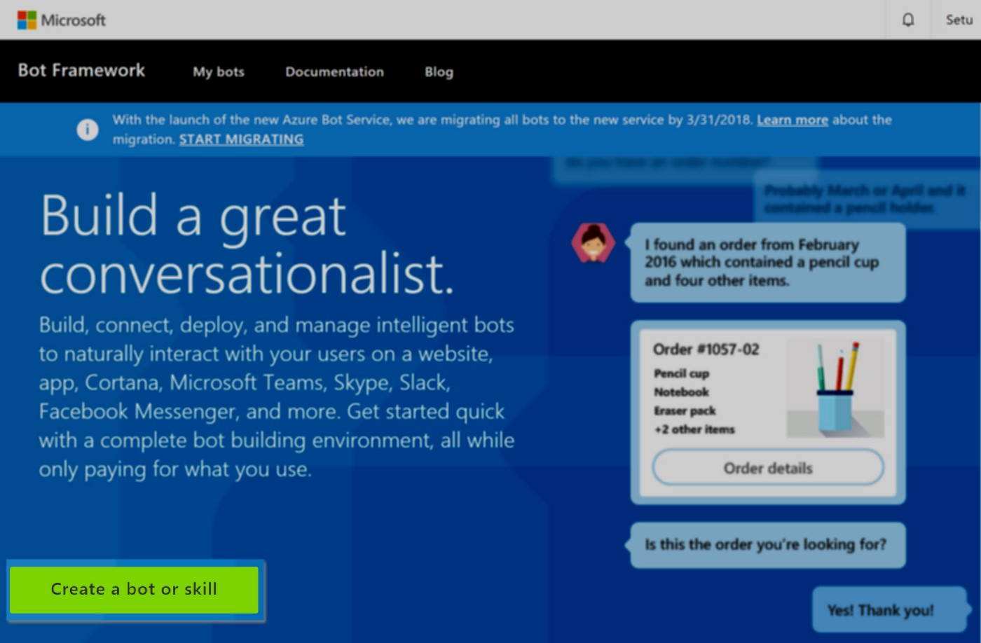Getting started with Azure Bot Framework: Building and publishing