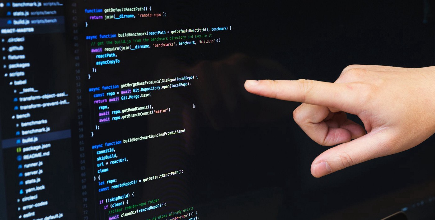 Pointing at source code