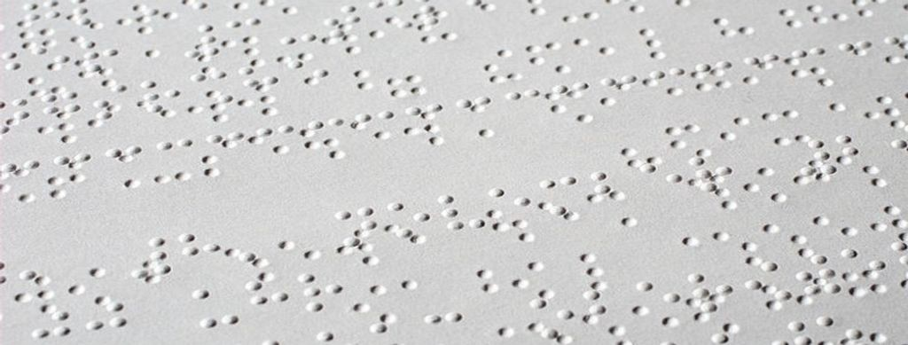 Image of Braille text
