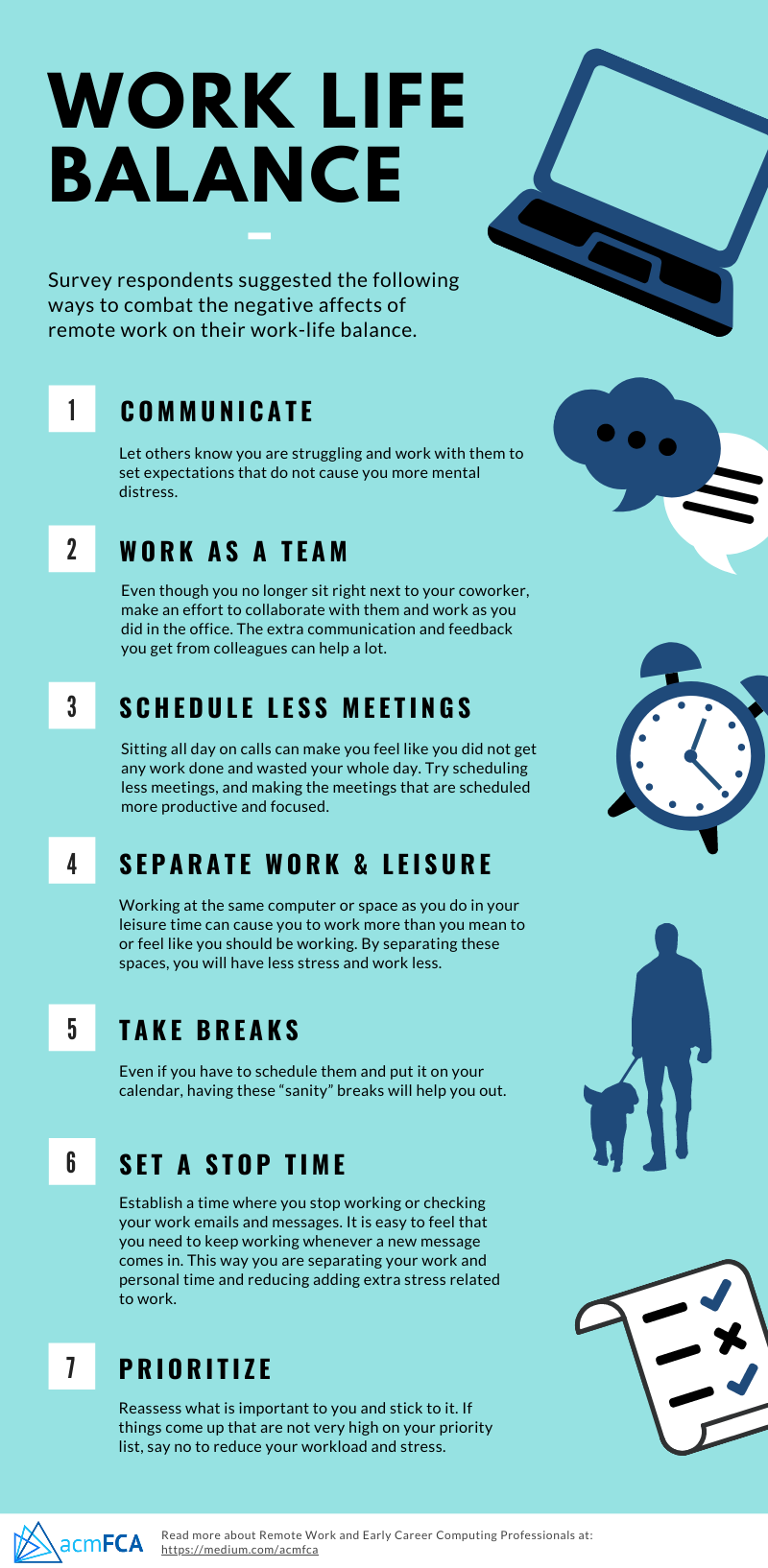 Effective strategies from respondents such as: communication, less meetings, schedule breaks, set a stop time, and prioritze.