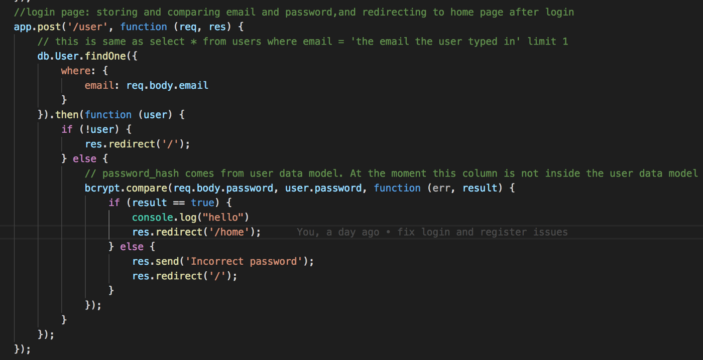 A quick guide for Authentication using 'bcrypt' on Express/NodeJs
