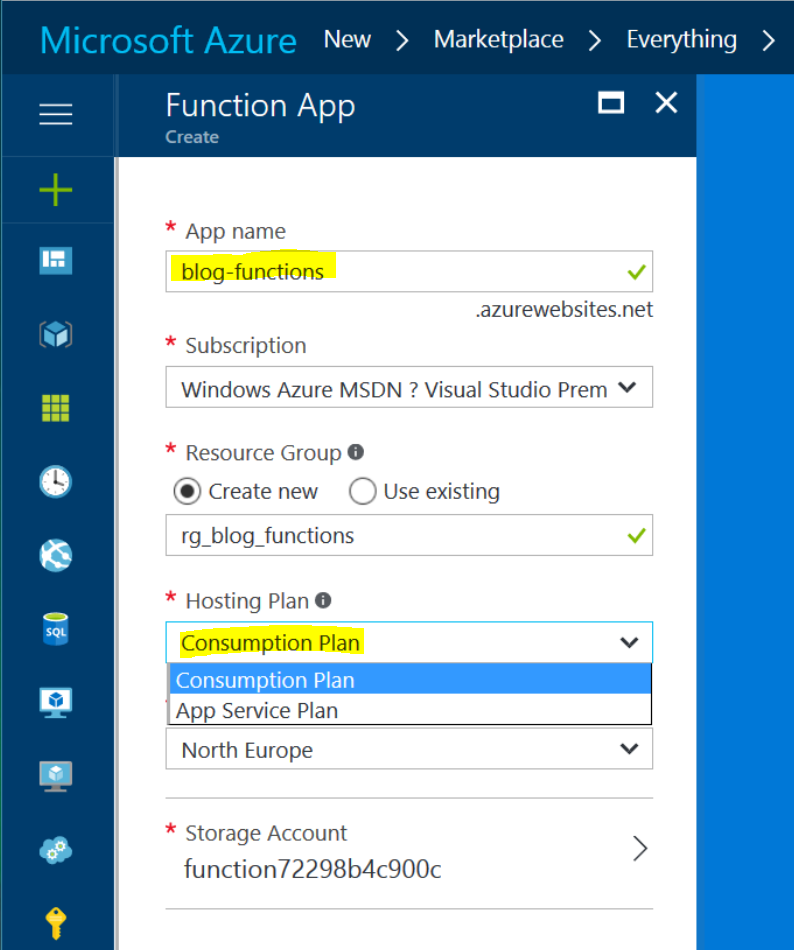 Azure Function Http Trigger Query Parameters