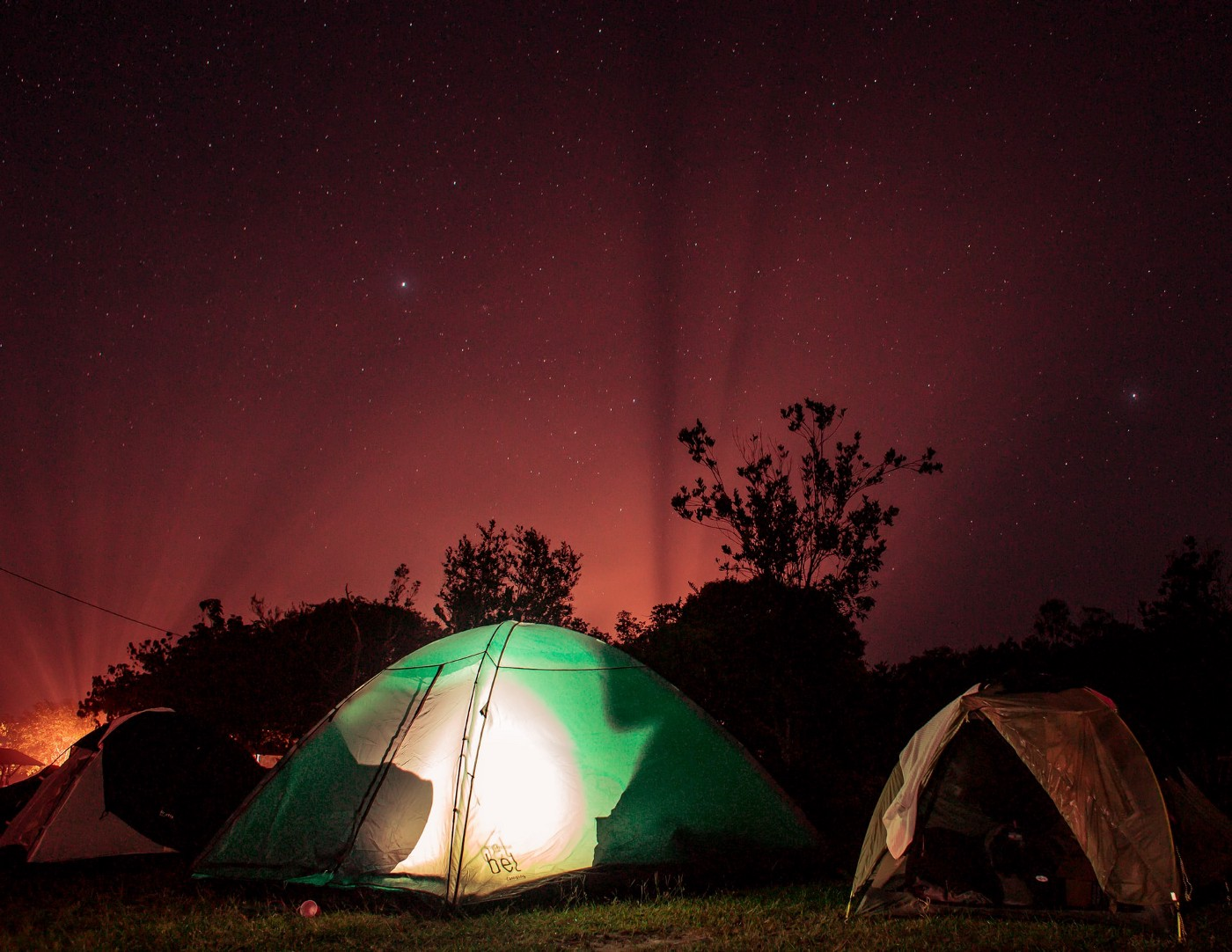 Basecamp (camp with tents and lighting)