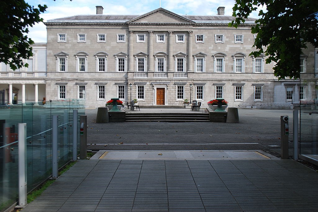 Leinster House—Large grey building