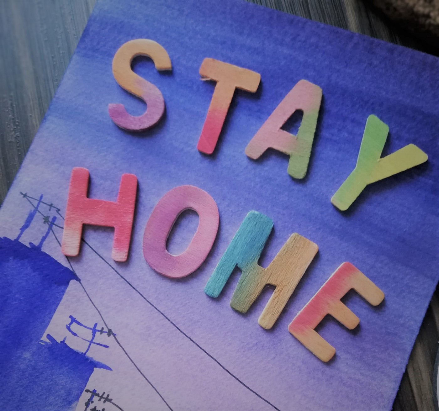 Photo by Author—Painted at the start of Msia's Lockdown, By Ching Ching, #stayhome