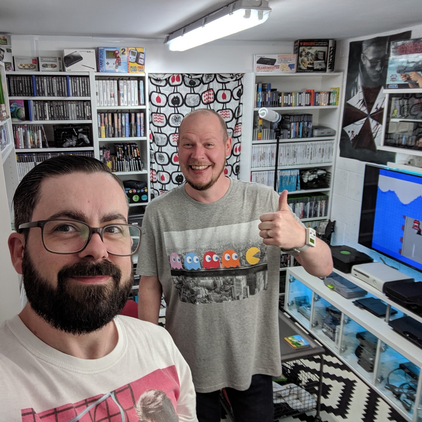 James and Mark, the Garage Gamers.
