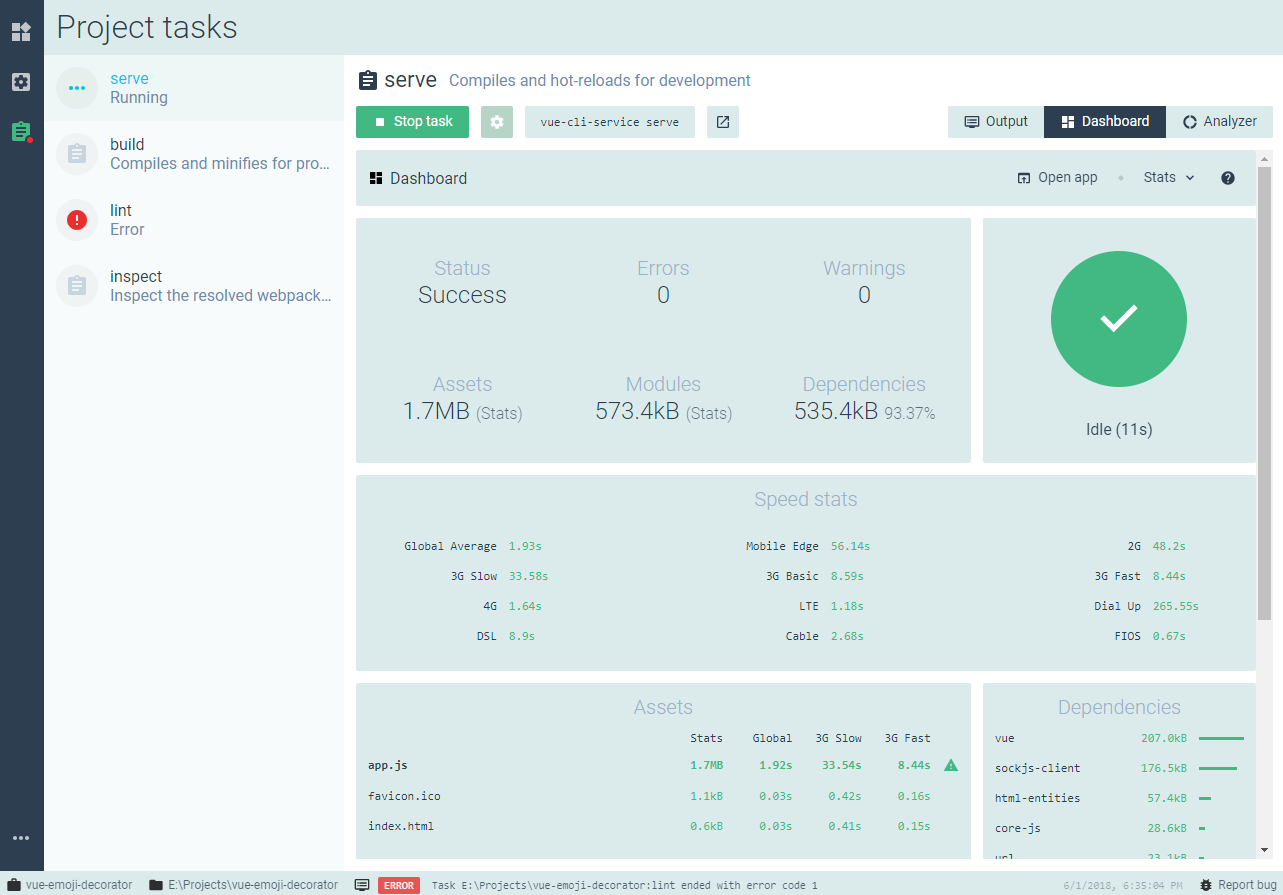 Getting To Know the New Vue-cli 3 User Interface - Noteworthy - The
