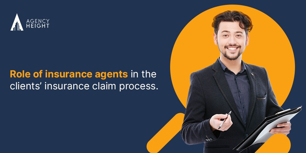 Insurance agent talking about the insurance cliams process