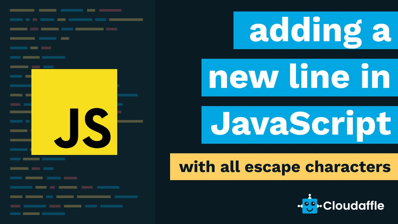 add a new line in javascript