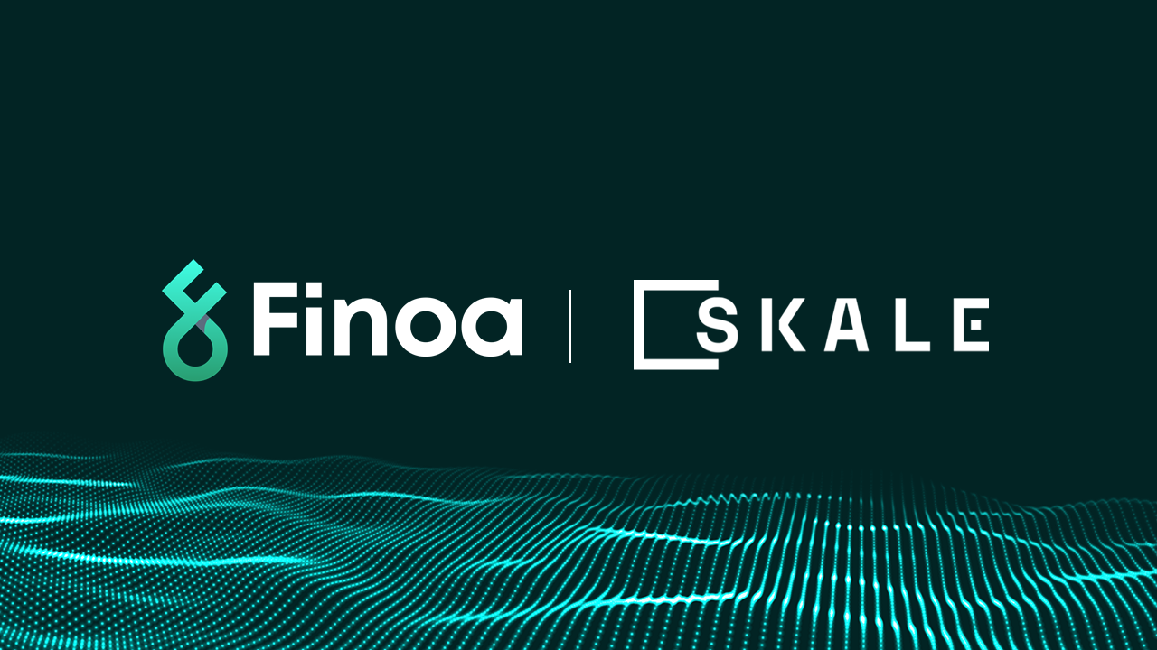 Finoa and Skale Labs partnernship announcement including logos.