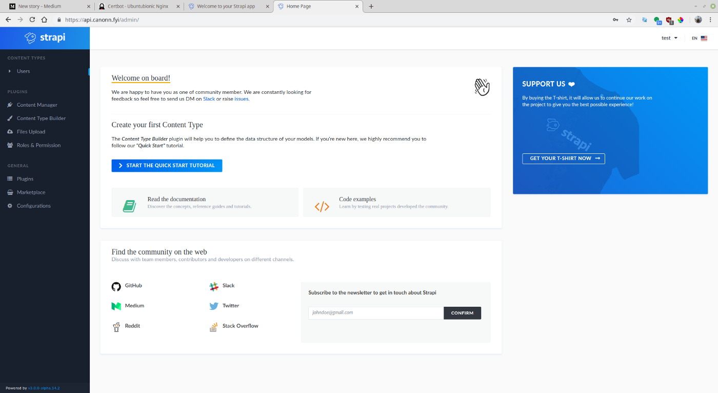 """Using Strapi in Production with HTTPs - Derrick """"DMehaffy"""" Mehaffy"""