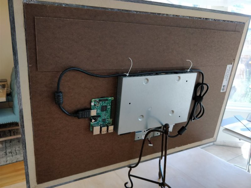 Big and Smart Raspberry Pi Picture Frame - Hackster Blog