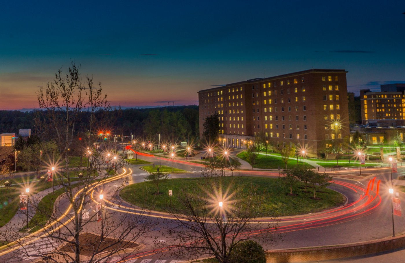 A night view of UMD campus