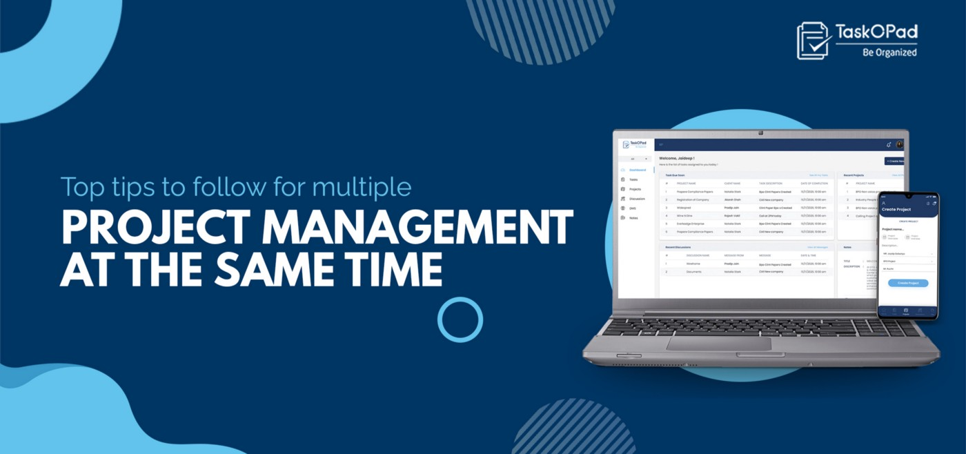 Top Tips To Follow For Multiple Project Management At The Same Time