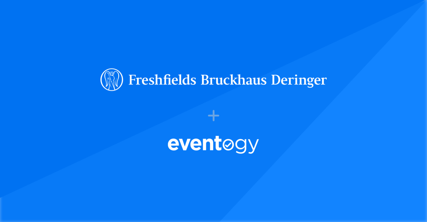 An image depicting the Eventogy and Freshfields logos.