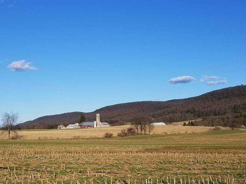 An Amish farm in central Pennsylvania is pictured.