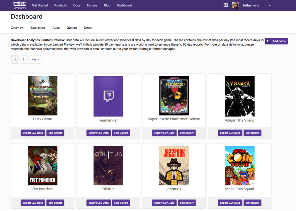 Introducing analytics for game developers - Twitch Blog