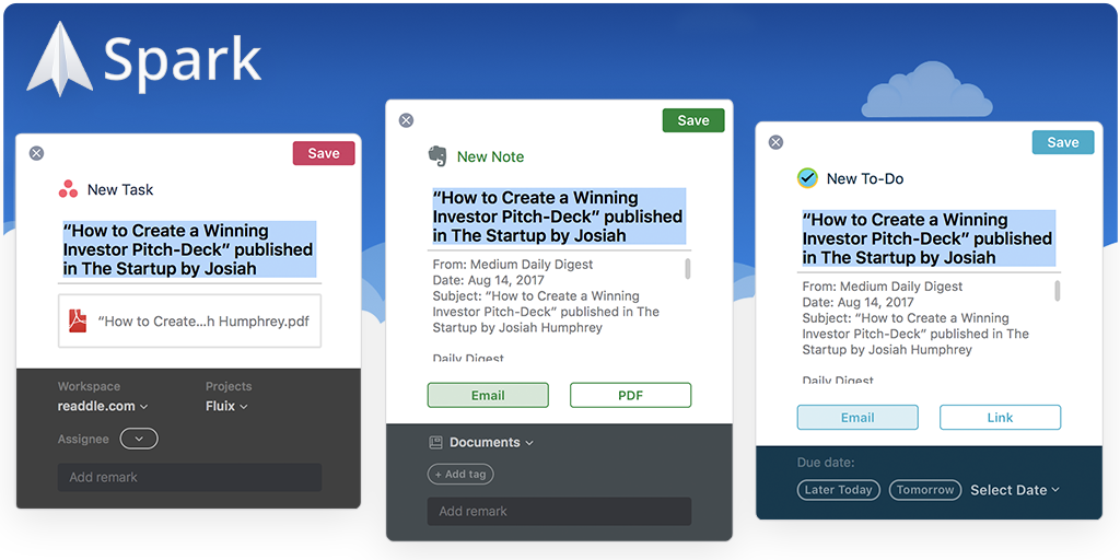 Spark adds brilliant 3rd party integrations - Readdle Blog