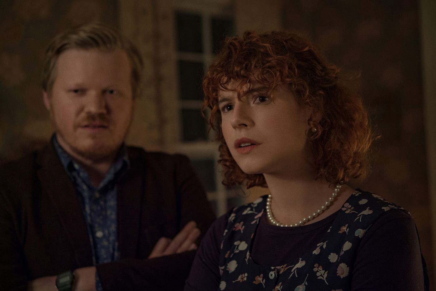 The young woman played by Jessie Buckley in the film I'm Thinking of Ending Things