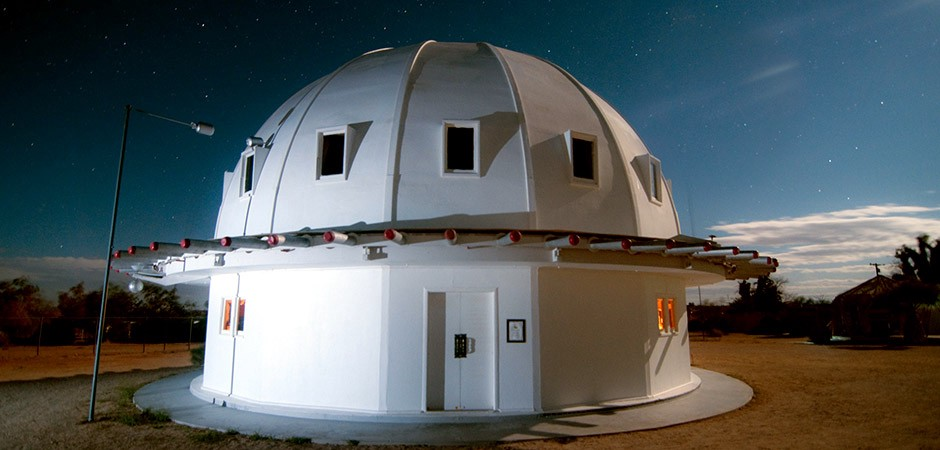 The Integratron, located in the Mojave Desert in Landers, California, which features private and public sound baths.