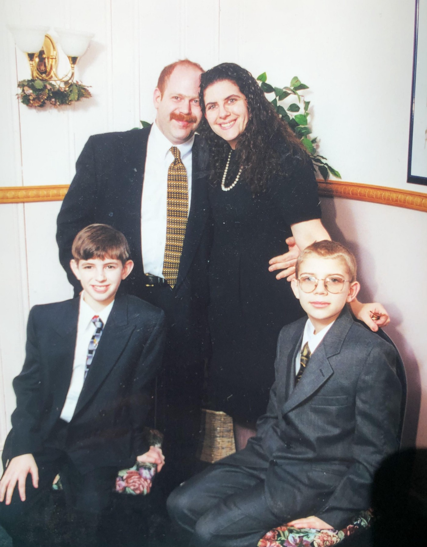 Me with my mom, dad, and brother, Ryan