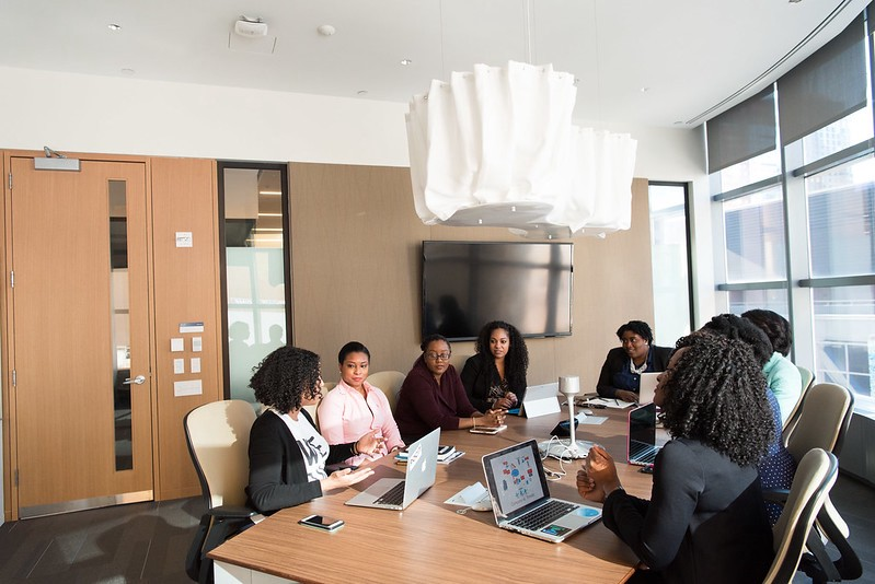 Women in a conference room