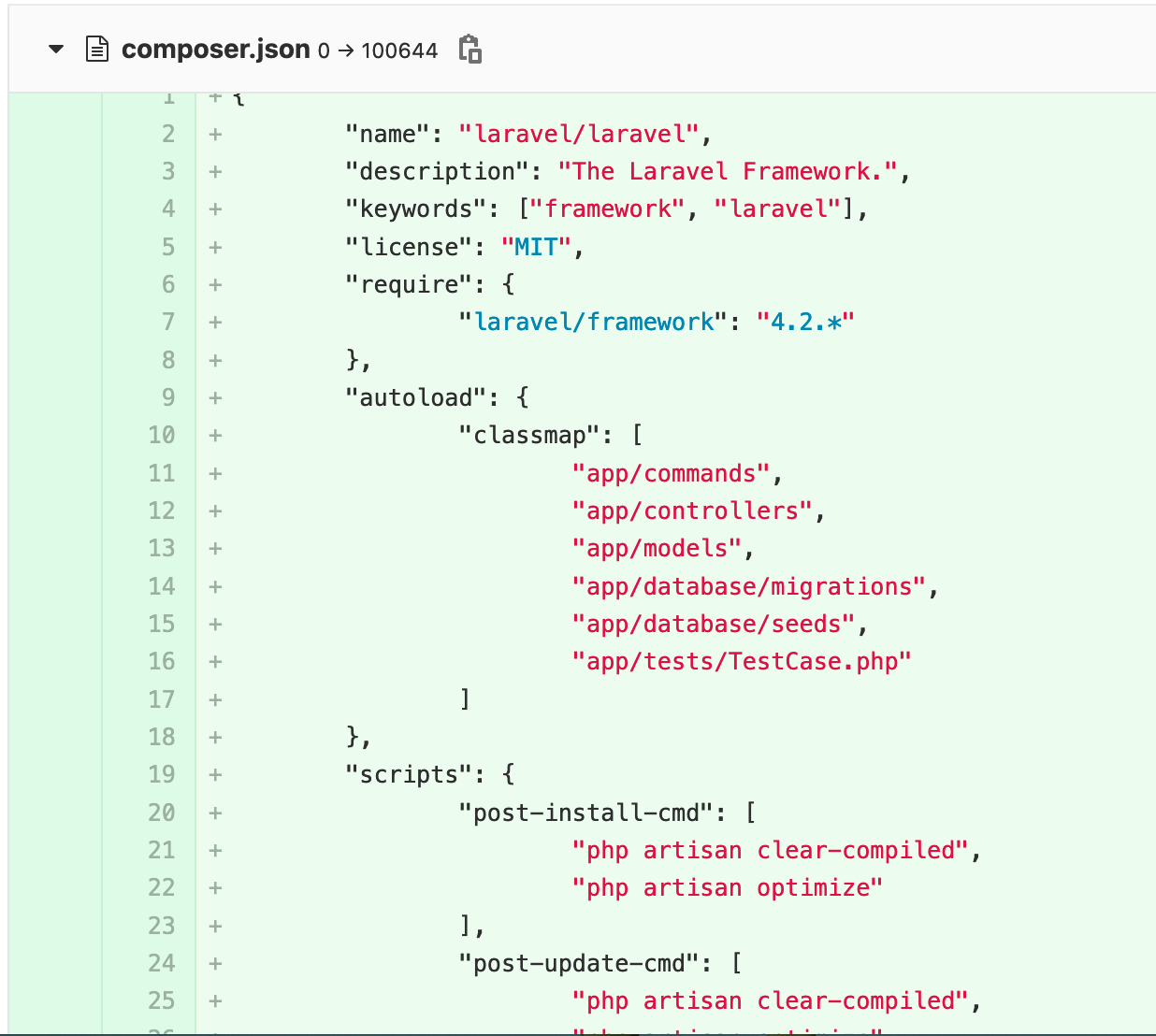 Initial commit — laravel -4.2