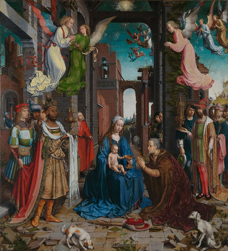 Jan Gossaert, (1478–1532), The Adoration of the Kings, c.1510–15, oil on oak panel, (179.8 × 163.2 cm), The National Gallery