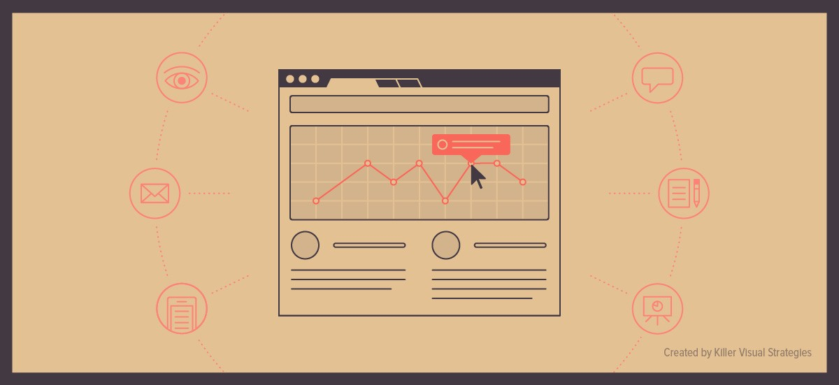 Illustrations, icons, and data visualization for interactive infographic content