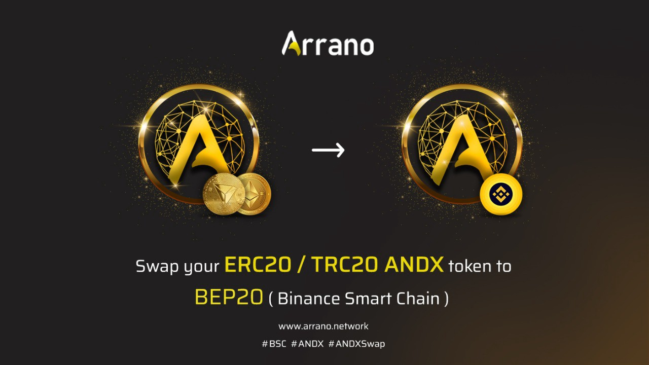 ANDX token bridge to swap ERC20/TRC20 to BEP20 is live and now users can place their swap requested. The ANDX token is project to be listed o Pancakeswap and other Binance Network decentralized exchanges.