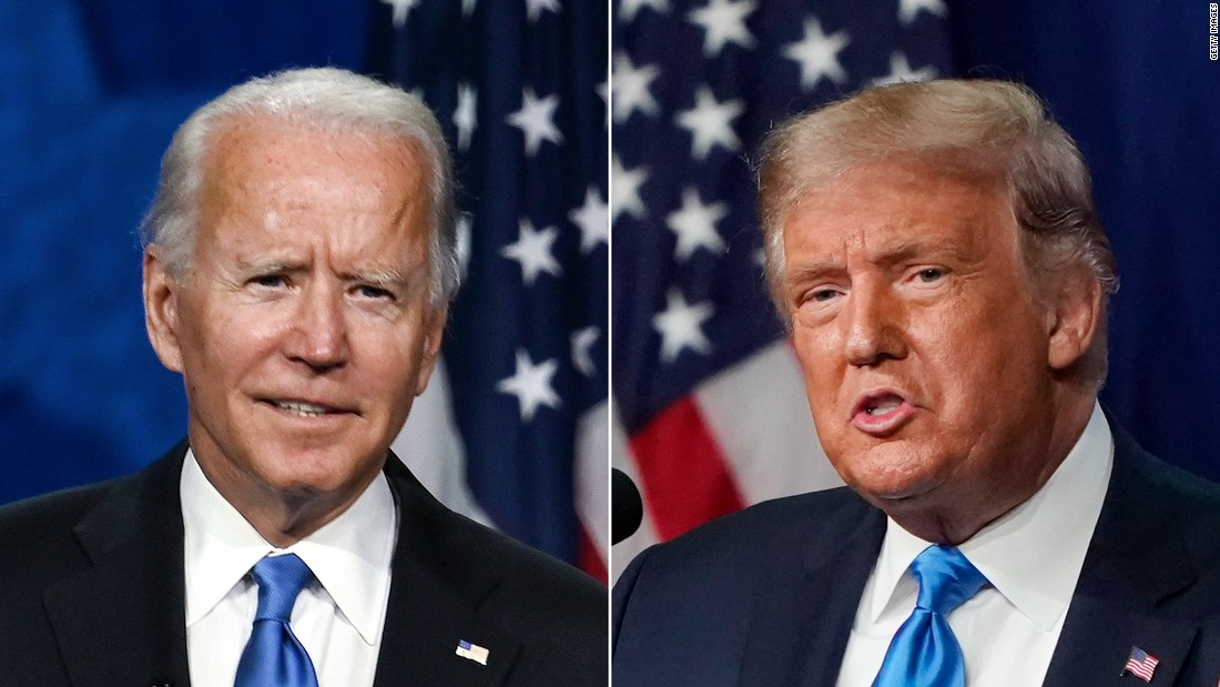 Joe Biden and Donald Trump in the first Presidential Debate