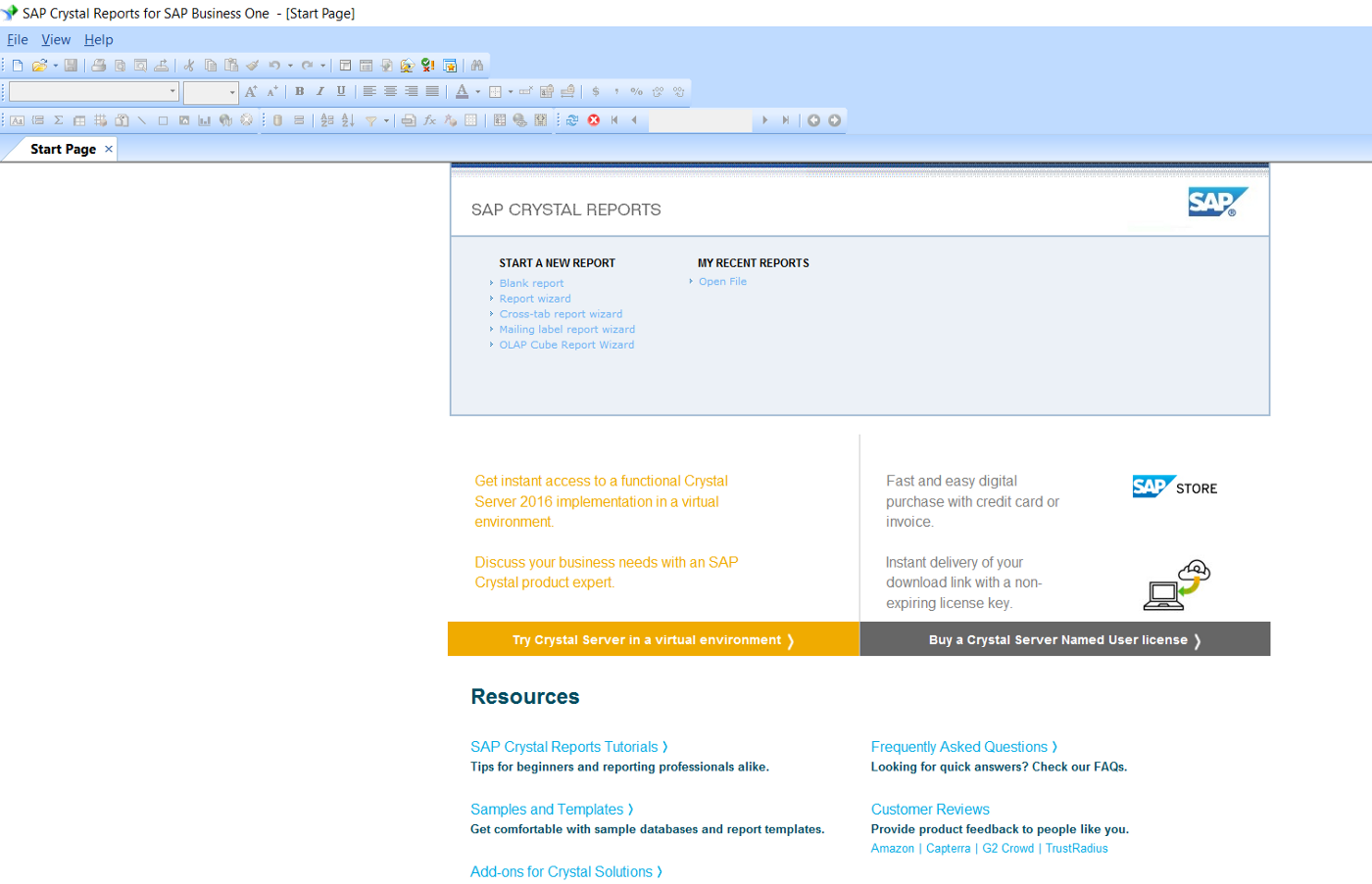 Creating a Crystal Report that uses Hana as a data source and