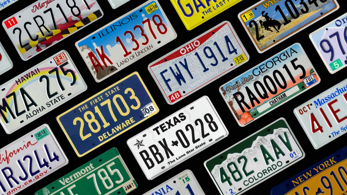 Cute Car License Plate Cover Decorative Front Plate for US Vehicles 12 x 6