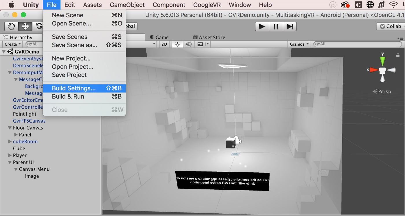 The Complete Guide to Building your First Daydream VR demo on a MacBook
