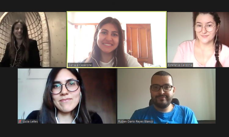 zoom call from team working remotely