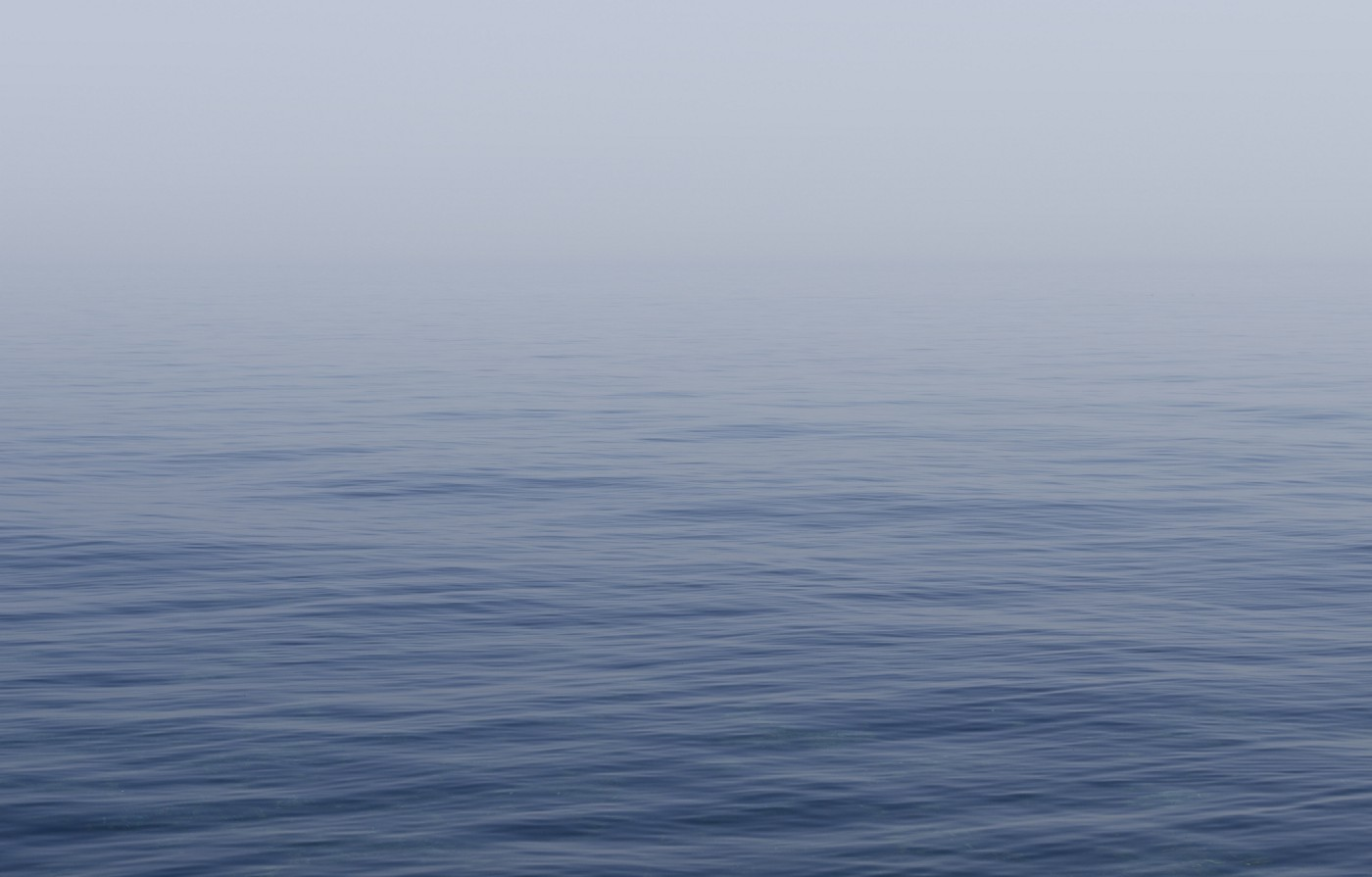 A still ocean. Mysterious and mesmerising.
