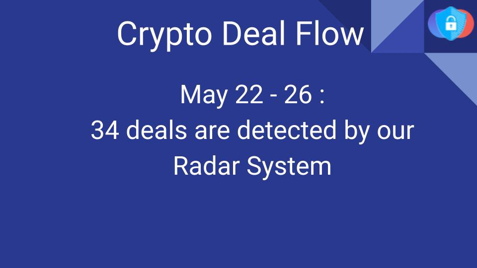 Crypto Deal Flow: May 22–26