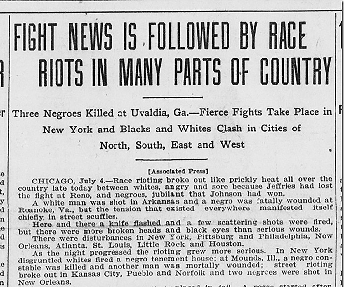 When a black fighter won 'the fight of the century,' race riots ...