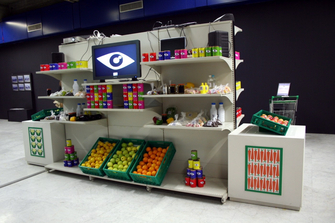 Squatting Supermarkets: an augmented supermarket inside a museum