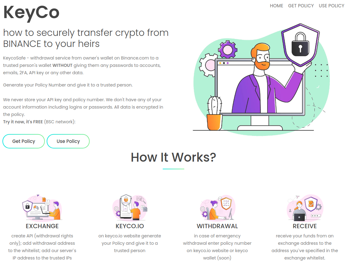 All you need is a Policy Number www.keyco.io